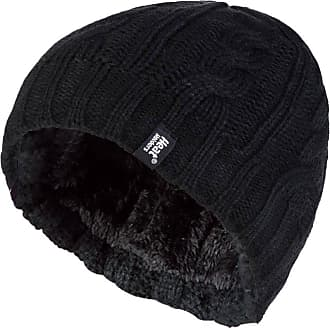 Heat Holders Heat Holders - Womens Thermal Fleece Cable knit winter hat 3.4 tog - One Size (Black)