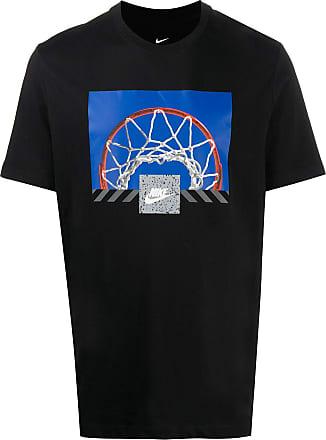 Nike T-Shirt mit Basketball-Print - Schwarz