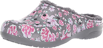 Crocs Womens Freesail Graphic Lined Clog, Multi Floral/Slate Grey, 4