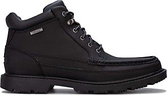 Rockport Redemption Road Moc Mens Leather Material Boots Black - 10 UK