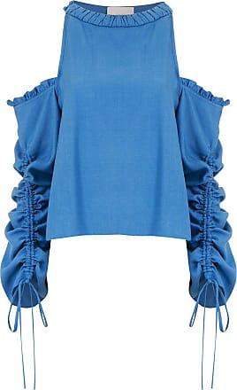Framed Blusa Athena mangas longas - Azul
