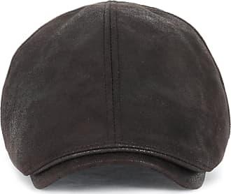 Ililily New Mens Flat Cap Vintage Cabbie Hat Gatsby Ivy Caps Irish Hunting Hats Newsboy with Stretch fit (flatcap-001) (XL-Dark Brown)