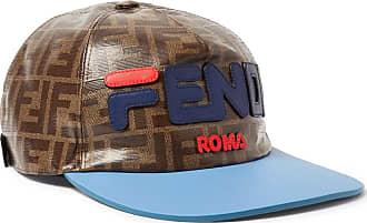 Fendi Leather-trimmed Logo-appliquéd Printed Coated-canvas Baseball Cap - Brown