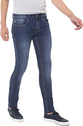 e3be009325a Lacoste Calça Jeans Lacoste Skinny Estonada Azul