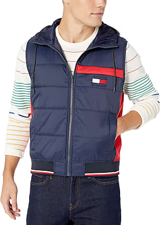 Tommy Hilfiger mens Real Down Quilted Sport Puffer Vest Down Vest