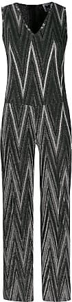 M Missoni Zigzag metallic knit jumpsuit - Prateado