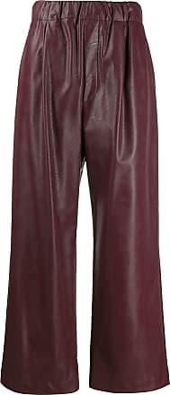 JEJIA Calça pantalona com elástico - Vermelho