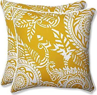 Pillow Perfect Outdoor | Indoor Addie Egg Yolk 18.5-inch Throw Pillow (Set of 2), 2 Piece
