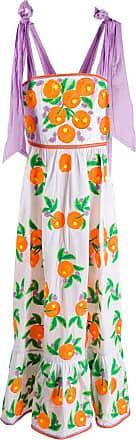 Yuliya Magdych Mandarin flare dress - White