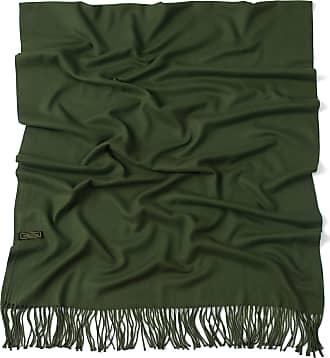 CJ Apparel Dark Green Thick Solid Colour Design Cotton Blend Shawl Scarf Wrap Stole Throw Pashmina CJ Apparel NEW