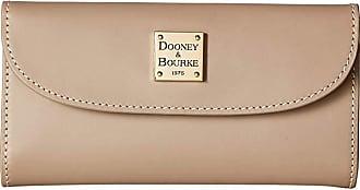 Dooney & Bourke Beacon Continental Clutch (Light Taupe/Light Taupe Trim) Clutch Handbags