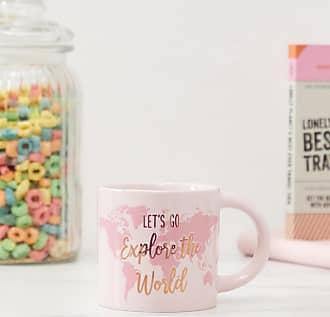 Sass & Belle Tazza con scritta lets go explore the world-Multicolore