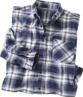 Olymp Casual Carreaux Flanelle Chemise à manches longues-bleu//marron
