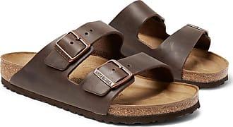 Birkenstock Arizona Oiled-leather Sandals - Dark brown