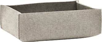 Hey-Sign Aufbewahrungsbox flach 35x25x10cm - grau hellmeliert/Filz in 5mm Stärke