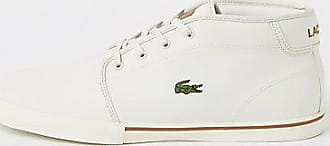 725b61bcd785 Lacoste Mens Lacoste White leather trainers