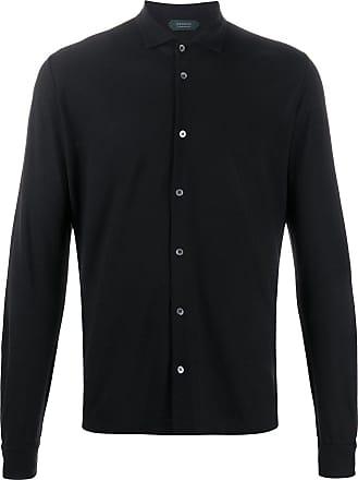 Zanone Camisa de algodão - Preto