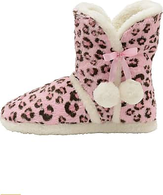 Dunlop Womens DLH7814 Slippers (3/4 UK, Pink Leopard)