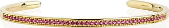 Sif Jakobs Jewellery Bangle Valiano - 18k gold plated with red zirconia