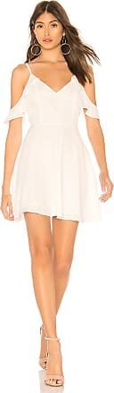 Superdown Mandy Cami Fit & Flare Dress in White