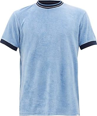 Orlebar Brown Sammy Cotton-terry T-shirt - Mens - Blue