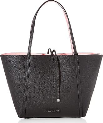 A X Armani Exchange Womens Reversible Shopping Tote, Black (Black/Rose Quartz), 28 x 11.5 x 31 cm