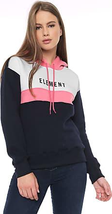Element Moletom Flanelado Fechado Element Logo Rosa/Azul-Marinho