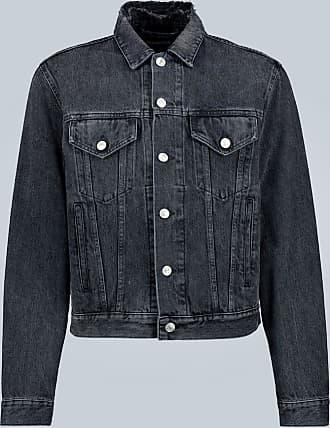 Balenciaga Slim-Fit-Jeansjacke mit Logo
