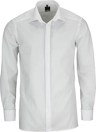 Olymp Olymp Luxor mens modern fit shirt with cuffs, from the New Kent Soirée collection, white - White