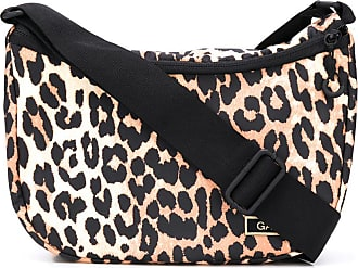 Ganni leopard print shoulder bag - NEUTRALS
