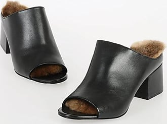 3.1 Phillip Lim 5cm Real Fur Rabbit and Leather Sabot Größe 37