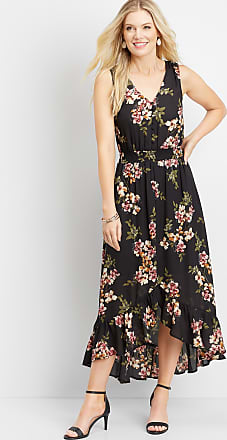 Maurices Floral Smocked Waist Maxi Dress