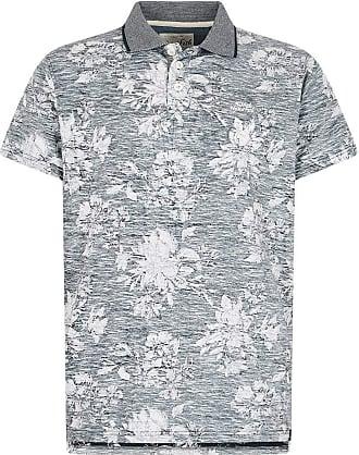 Weird Fish Pascoe Floral Print Polo Shirt Navy Size 2XL