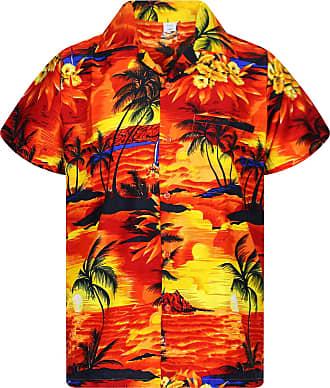 V.H.O. Funky Hawaiian Shirt, orange, Extra-Small