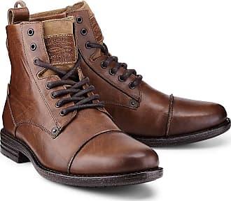 Levi's Herren Leder Stiefel Whitfield Boots braun