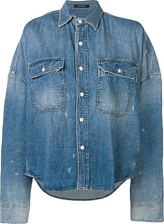 R13 loose fitting denim shirt - Blue