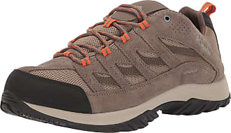 Columbia Mens Crestwood Waterproof Hiking Shoe, Pebble, Desert Sun, 9.5 UK Wide