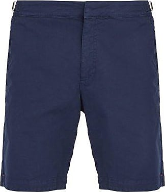 Orlebar Brown Dane Ii Cotton-blend Twill Shorts - Mens - Navy