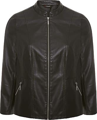 Yours Clothing Clothing Womens Plus Size PU Faux Leather Jacket Size 16 Black