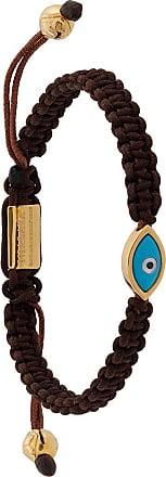 Nialaya Evil Eye string bracelet - Brown