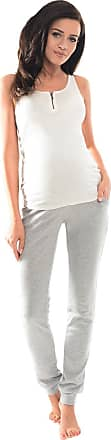 Purpless Maternity Pregnancy Over Bump Support Joggers Comfortable Trousers for Pregnant Women 1307 (18, Light Gray Melange)