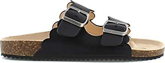 xoxo Womens Lebanon Slide Sandal, Black, 6.5 M US
