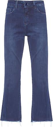 Shoulder Calça Jeans Boot Cropped - Azul