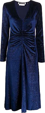 Rotate Vestido midi Number 7 - Azul