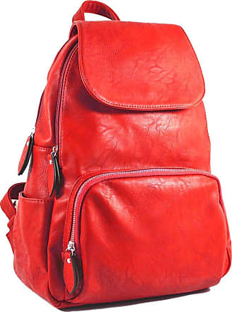 Your Dezire Unisex-Adult Ladies Womens Faux Leather Girls Rucksack Backpack College Uni Gym School Bag UK Red