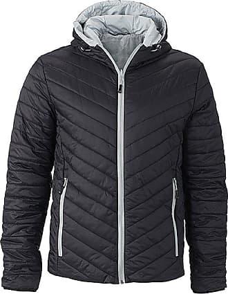 James & Nicholson Light reversible jacket with DuPont Sorona padding (S, black/silver)