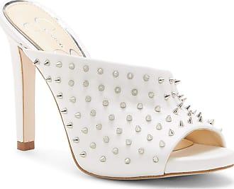 Jessica Simpson Womens Ryanne2 Heeled Sandal, Bright White Leather, 4.5 UK