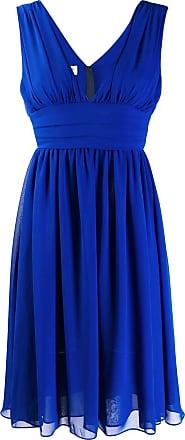 Blanca Vestido com detalhe de babados - Azul