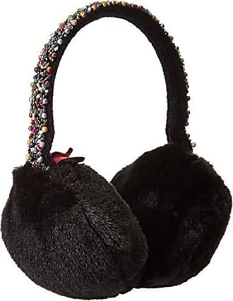 Betsey Johnson Womens AfterParty Earmuff, black, ONE SIZE
