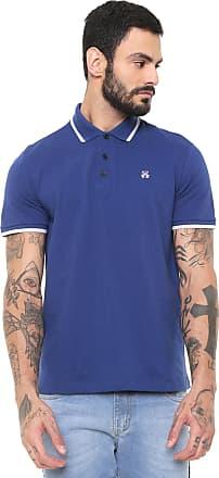 29a18361d1 John John Camisa Polo John John 2 Lines Bic Azul
